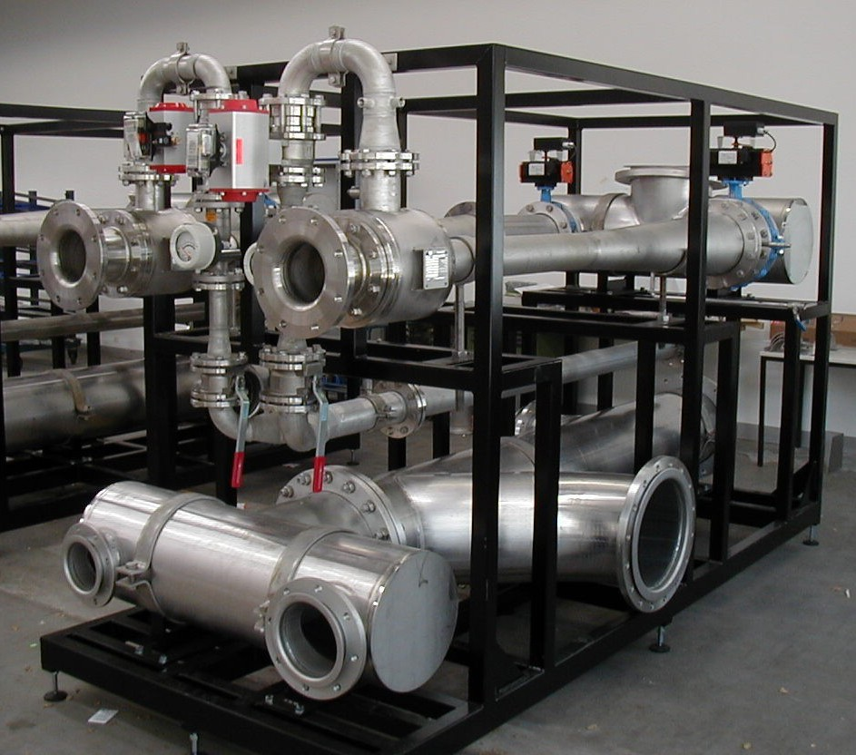 Liquid jet gas compressor for ozone introduction in a municipal water treatment plant in Denmark