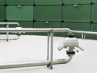 Multi-path ejectors inside aeration tanks