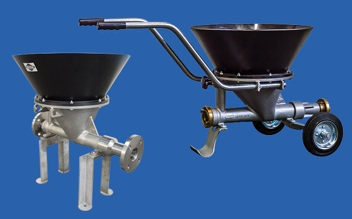 Körting liquid jet solids ejectors are available as a stationary or a mobile version
